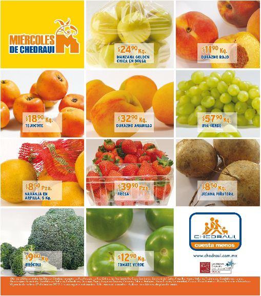 Miércoles de frutas y verduras Chedraui diciembre 12: todas las piñas $4.90/Kg y +