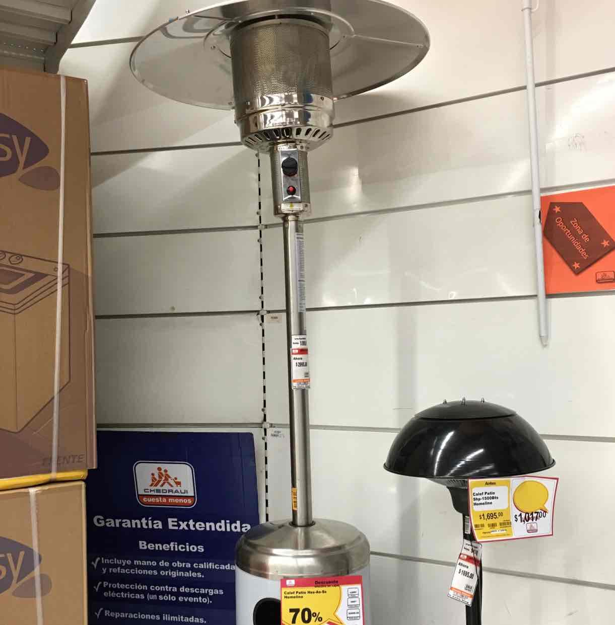 Chedraui: calentador para exterior con el 70%