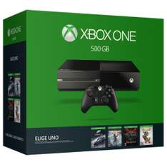 "Hot Sale Amazon MX: Consola Xbox One 500 GB ""Elige tu juego"" a $5621"