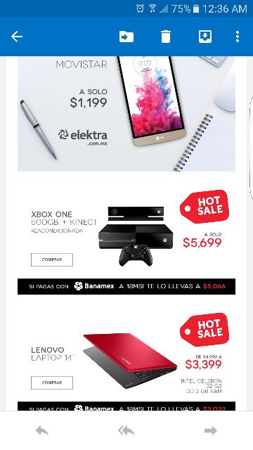 Promoción del Hot Sale en Elektra: Xbox One reacondicionada con Kinect a $5,699 ($5,066 con Banamex a 18 MSI)