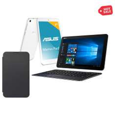 Hot Sale Walmart: Laptop 2 en 1 Asus T300CHI 4 GB RAM 128 GB SSD más Tablet y Funda Asus