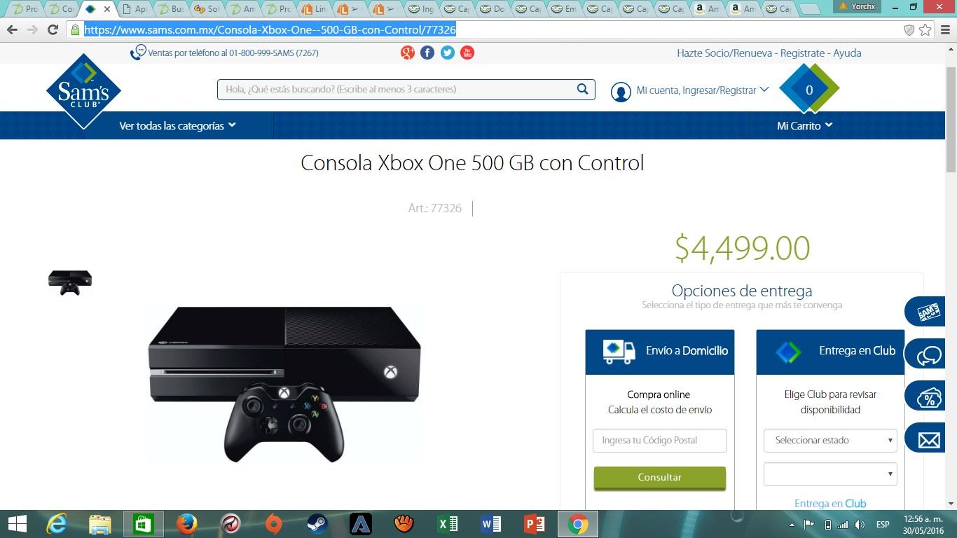 Hot Sale en Sam's Club: Consola Xbox One 500 GB a $4,499 ($3,750 con Walmart Inbursa a 18 MSI)