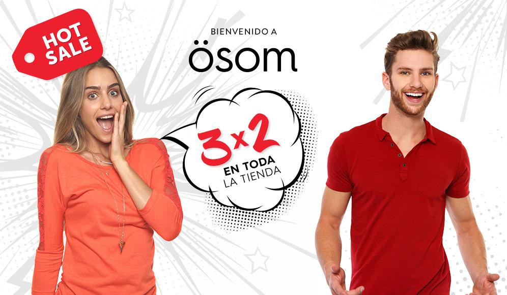 Promoción del Hot Sale en Ösom 3x2 en toda la tienda