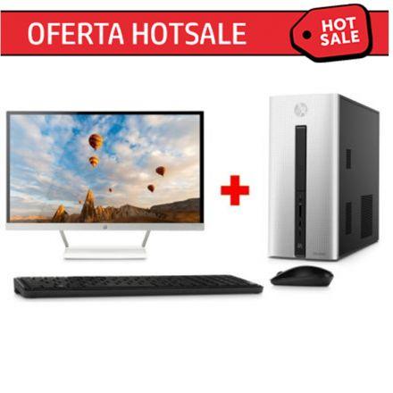 Promoción del Hot Sale en HP: Desktop HP Pavilion – 550-102la + Monitor HP Pavilion 27xw a $14,999