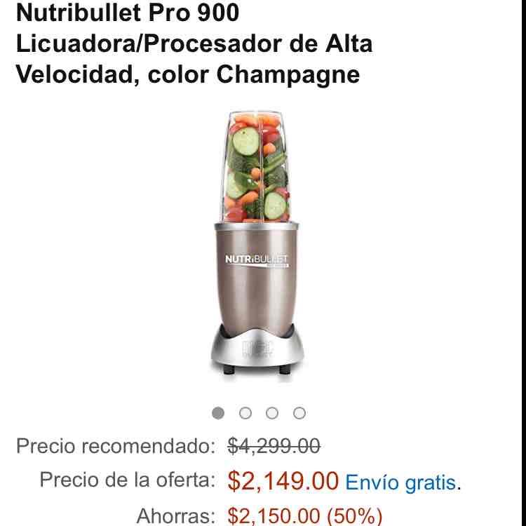 Ofertas Hot Sale Amazon: Nutri bullet pro 900 con 50% (más 16% con Banamex)