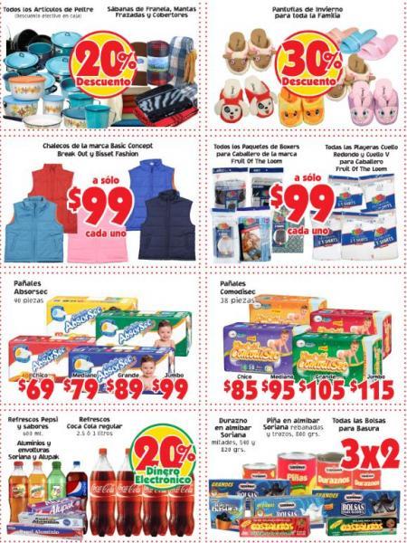 Mercado Soriana: ofertas en refrescos, pantuflas, artículos de peltre y más