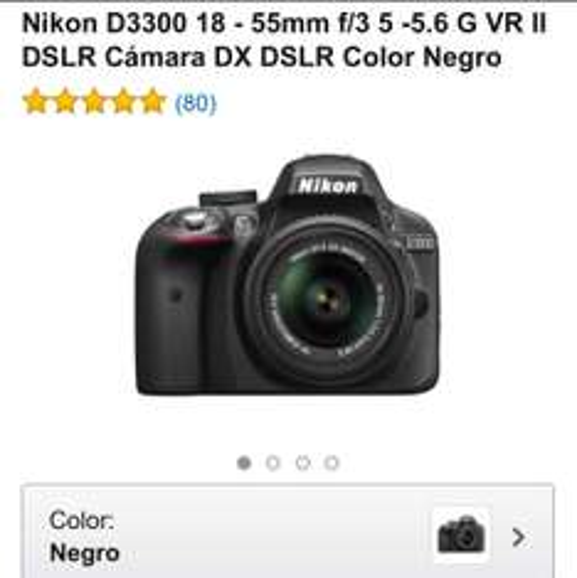 Ofertas Hot Sale Amazon: cámara Nikon D3300 $5,415 con bonificación banamex