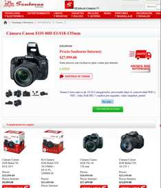 Ofertas Hot Sale Sanborns: Canon 80D + EFS18-135mm