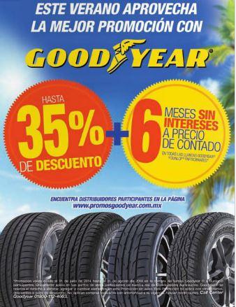 Hasta 30% de descuento y 6 MSI en llantas Goodyear y Dunlop participantes