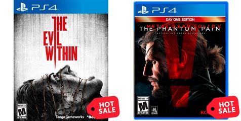 Hot Sale en Sanborns: Metal Gear Solid V TPP en $449 y The Evil Within en $349 PS4