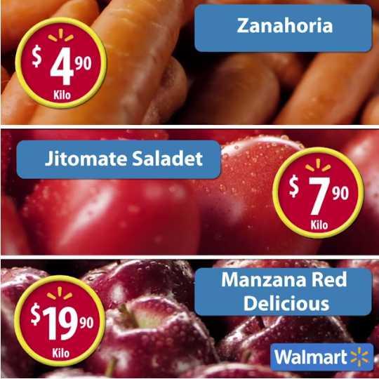 Walmart: Ofertas del Martes de frescura 31 de mayo