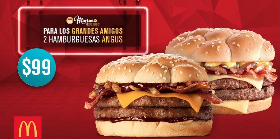 McDonalds: 2 Hamburguesas Angus x $99 enseñando cupón (sólo hoy 31 de MAYO)
