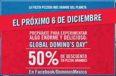 Global Domino's Day: 50% de descuento en pizza grande en Dominos Pizza