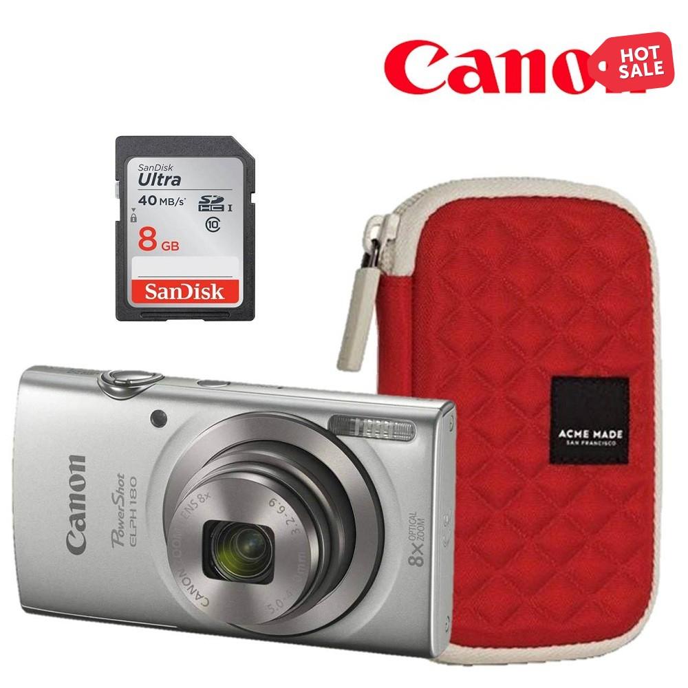 Ofertas Hot Sale Walmart: Paquete de Cámara Canon Elph 180 de 20mp, memoria de 8Gb clase 10 y funda