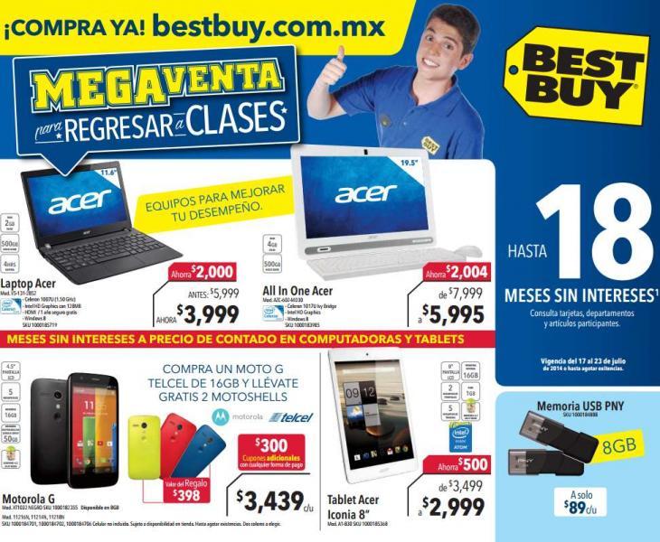 Folleto de ofertas en Best Buy del 17 al 23 de julio