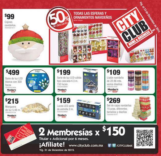 Cuponera City Club diciembre: ofertas en libros, CDs, focos, acumuladores, licores y +