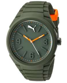 Amazon: Reloj Puma unisex color verde militar