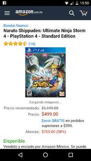 Ofertas Hot Sale Amazon: Naruto Ultimate Ninja Storm 4 para Playstation 4