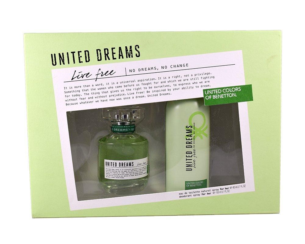 Ofertas Hot Sale Amazon: Set Benetton Live Free Eau de Toilette 80 ml + Deodorant