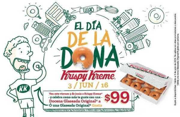 Krispy Kreme: docena de donas glaseadas a $99 el 3 de junio