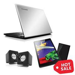 Sanborns en línea: Laptop Lenovo Ideapad 300 + Tableta Lenovo TAB2 A7-20 + Bocinas