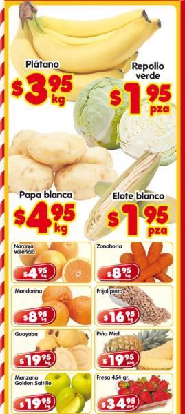 Frutas y verduras en HEB: plátano $3.95, repollo verde $1.95 y más