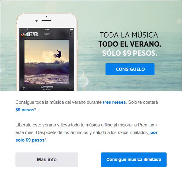 Deezer: 3 meses de Premium+ por solo $9 pesos