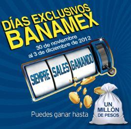 Días Banamex del 30 noviembre al 3 de diciembre