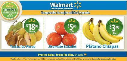 Martes de frescura en Walmart noviembre 27: plátano $5.90 y más