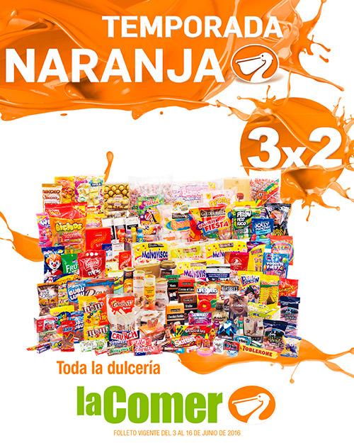 La Comer: Folleto 1 Temporada Naranja (antes Julio Regalado) del 3 al 16 de Junio