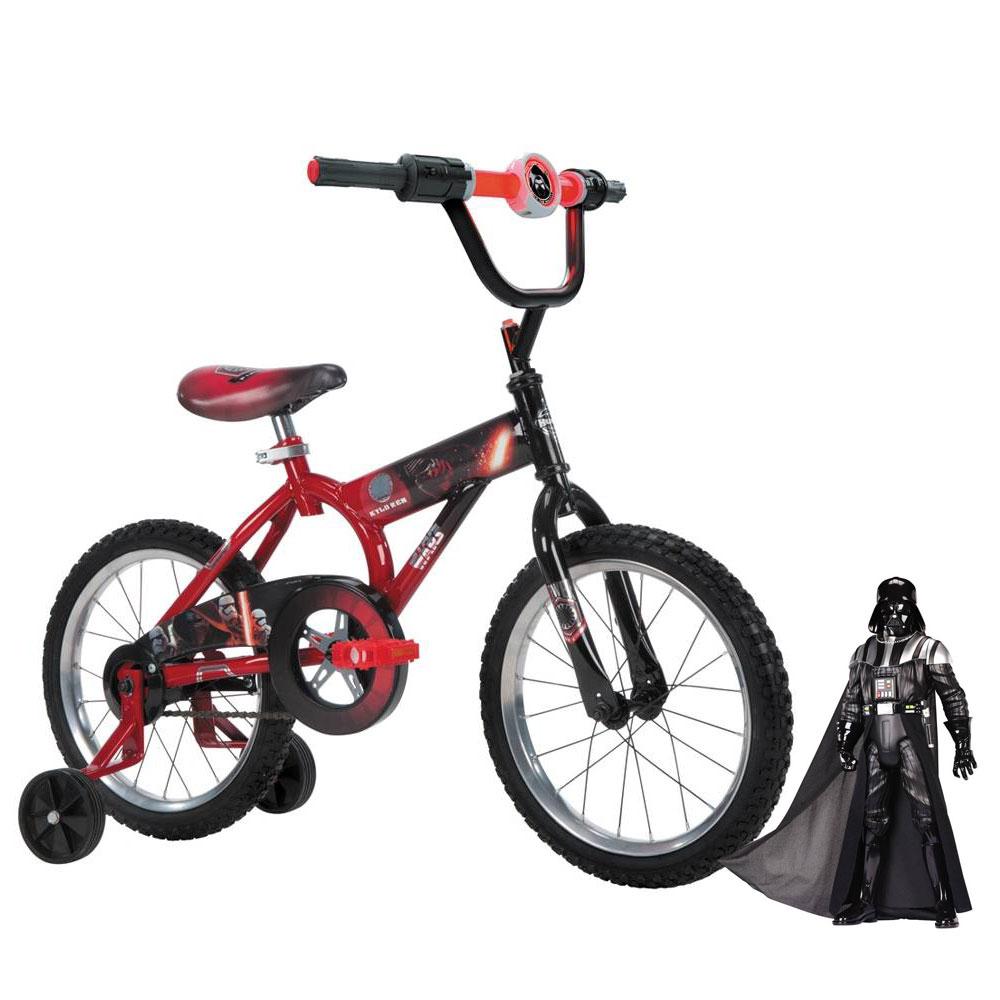 Walmart en línea: Bicicleta Huffy Star Wars Episodio VII Rodada 16 y Figura Gigante Star Wars Darth Vader 20 Pulg