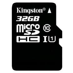 Amazon: Memoria MicroSD Kingston 32Gb Class 10 UHS-I 45MB/s con adaptador SD (SDC10G2/32GB)