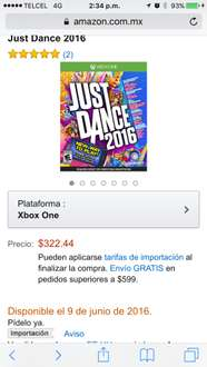 Amazon: Just Dance 2016 - Xbox One a $322