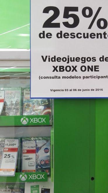 Chedraui Veracruz varias tiendas: 25% de descuento en juegos de xbox one