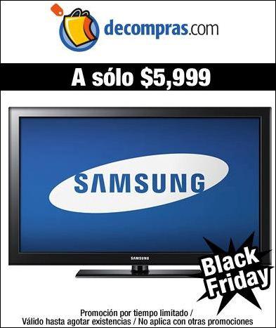 """Decompras.com: blu-ray LG $850, TV LCD Samsung 40"""" $5,999 y + con envío gratis"""