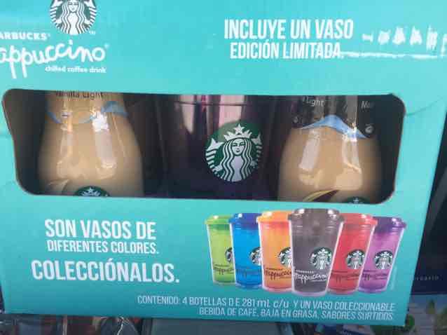 Walmart Chihuahua: 4 frascos surtidos de café y vaso para frapuchino de Starbucks a $99
