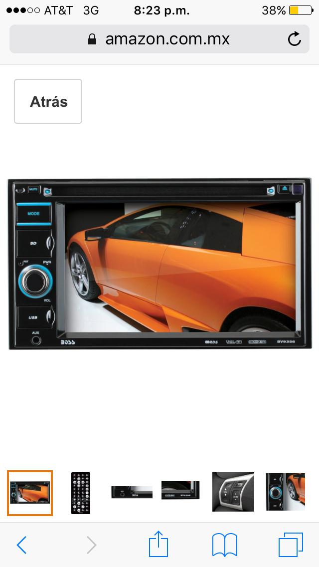 Amazon: AutoEstereo boss con pantalla, DVD, USB etc a $1,501