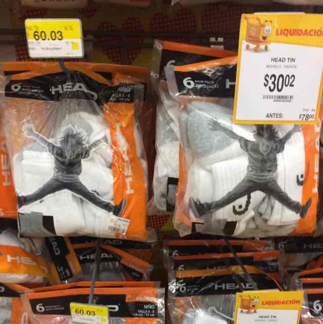 Walmart Puebla Periplaza: tines para niño marca Head 6 pares a $30.02