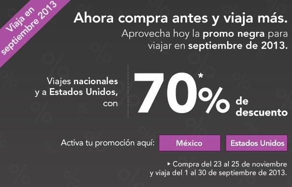 Volaris: 70% de descuento para septiembre. Oferta para Tijuana y USA en diciembre y enero.