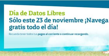 Día de datos libres en Movistar noviembre 23