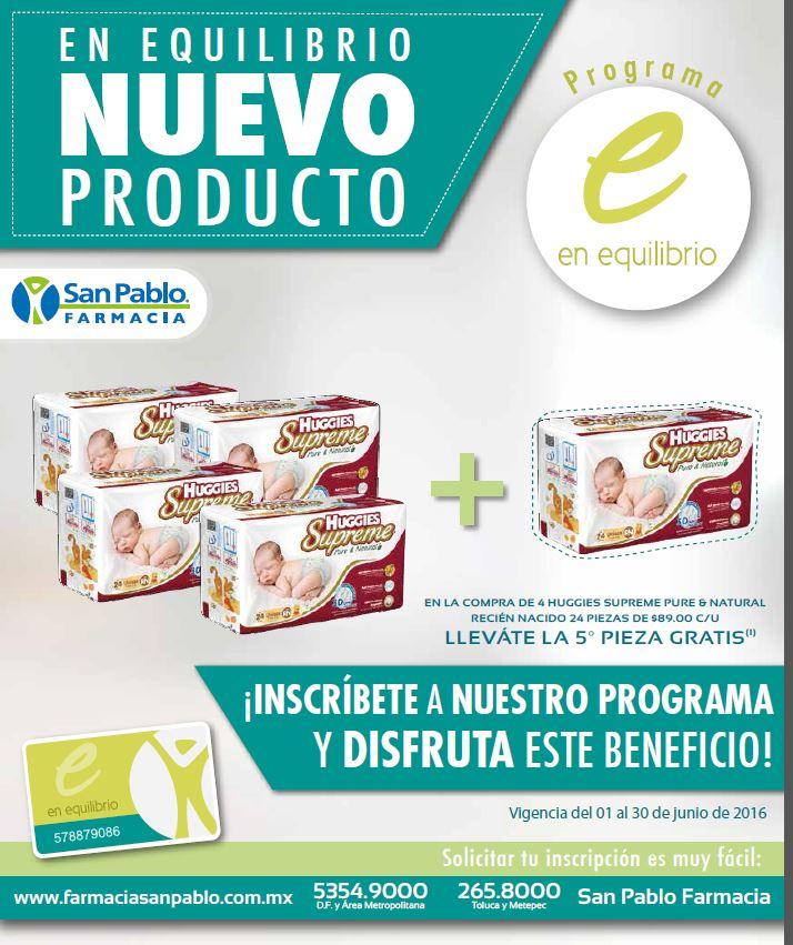 Farmacias San Pablo: Compras 4 paquetes de pañales y te llevas 5 hasta el 30 de Junio
