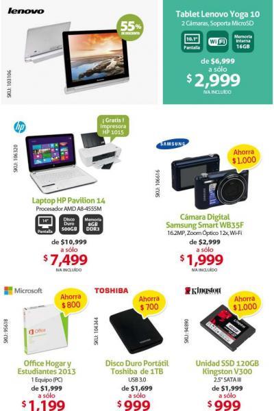 PCEL: Tablet Lenovo Yoga 10 $2,999, disco duro portátil Toshiba $999 y más