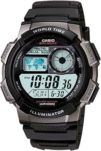 Amazon MX: Casio AE-1000W-1BVCF Reloj Digital para Hombre, Negro