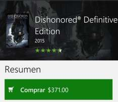 Xbox one: Dishonored definitive edition