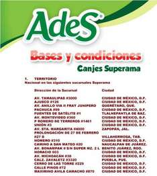 Películas, juguetes o bicicleta gratis comprando jugos Ades en Superama
