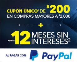 Best Buy en Linea: Cupón de $200 solo hoy al pagar con PayPal en compras mayores a $2,000