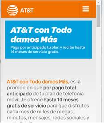 AT&T: Plan Con Todo Damos Más, paga por anticipado tu plan y recibe hasta 14 meses de servicio gratis