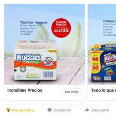 Sam's Club: toallitas huggies 3 cajas por $125