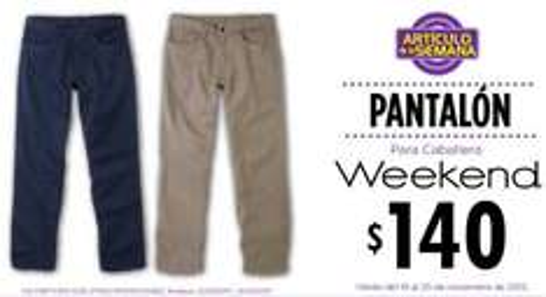 Artículo de la semana en Suburbia: pantalón para caballero $140