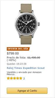 Amazon: Reloj Timex Expedition Scout, beige
